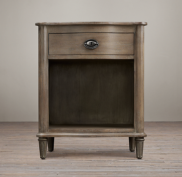 "24"" Empire Rosette Open Nightstand"