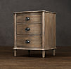 "24"" Empire Rosette Closed Nightstand"