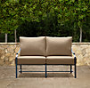"51"" Carmel Luxe Sofa Weathered Zinc"