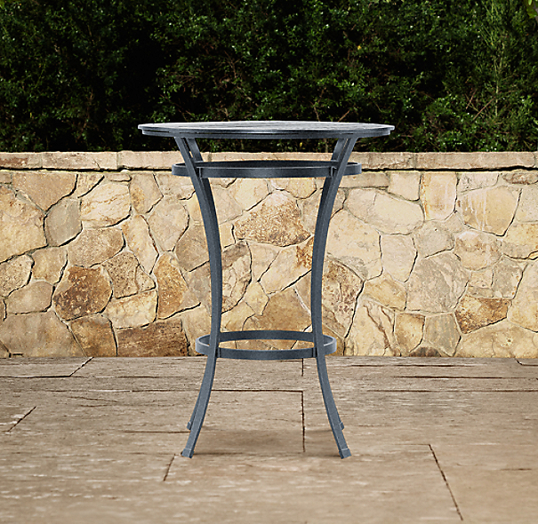 Carmel Bar Table Weathered Zinc