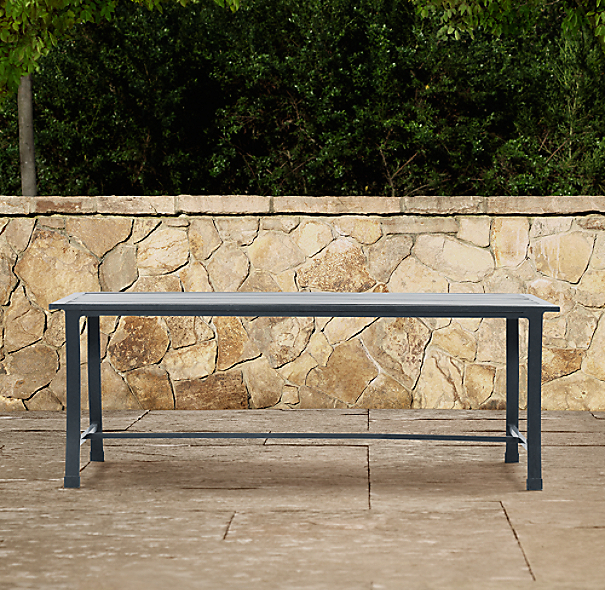 Carmel Luxe Coffee Table Weathered Zinc