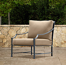 Carmel Luxe Lounge Chair Weathered Zinc