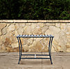 Carmel Luxe Side Table Weathered Zinc