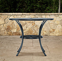 Carmel Small Round Table Weathered Zinc