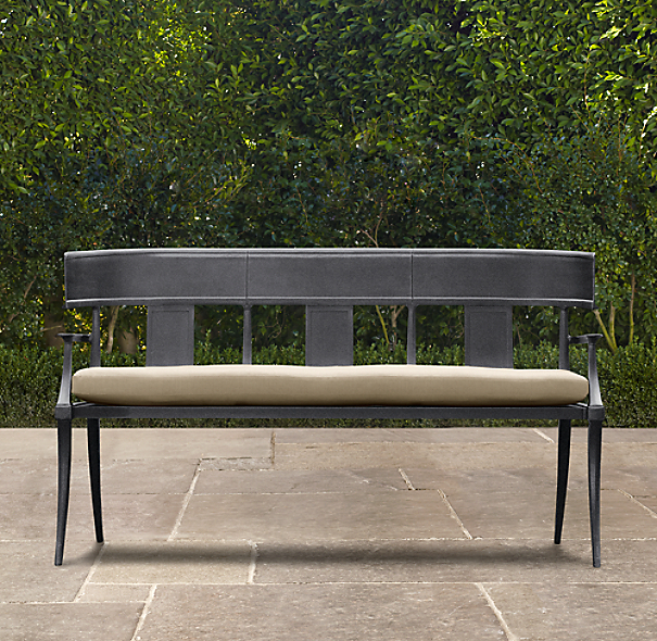 Klismos Luxe Bench Weathered Zinc