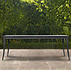 "84"" Klismos Rectangular Dining Table Weathered Zinc"