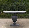 Klismos Round Dining Table Weathered Zinc