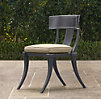 Klismos Luxe Side Chair Weathered Zinc