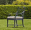 Antibes Armchair Weathered Zinc