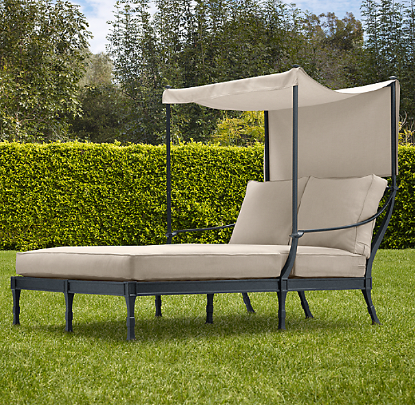 Antibes Canopy Daybed Weathered Zinc