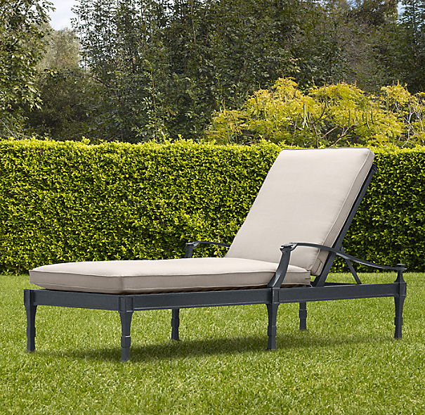 Antibes Chaise Weathered Zinc