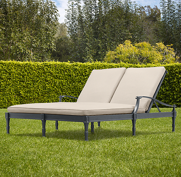 Antibes Double Chaise Weathered Zinc