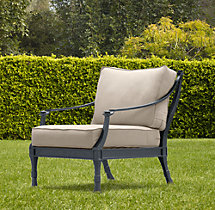 Antibes Lounge Chair Weathered Zinc