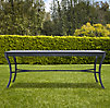 Antibes Rectangular Dining Table Weathered Zinc