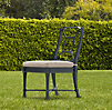 Antibes Side Chair Weathered Zinc