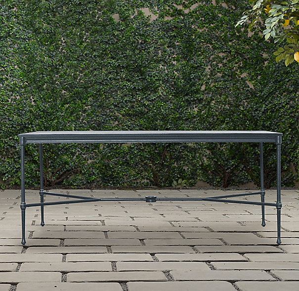 Catalina Rectangular Dining Table Weathered Zinc
