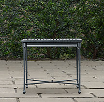Catalina Side Table Weathered Zinc