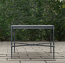 Catalina Small Square Dining Table Weathered Zinc