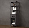 Hutton Open Shelf Hutch & Glass Door Base with Drawer