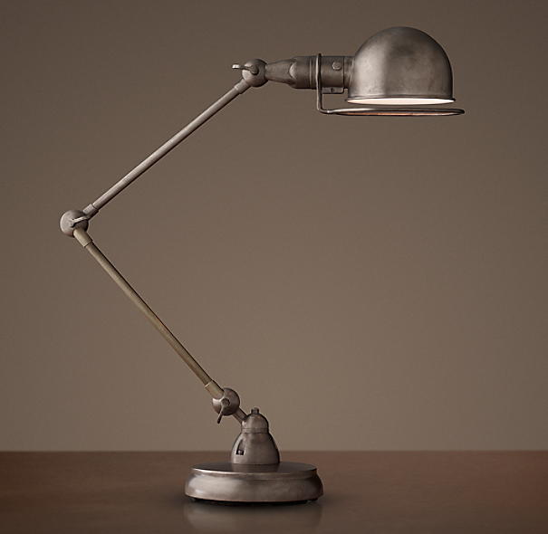 Atelier Task Table Lamp Patina Nickel