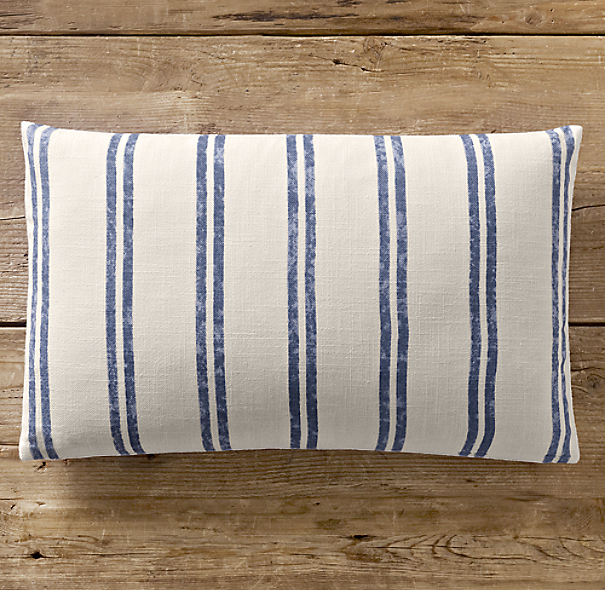 French Ticking Stripe Pillow Cover Lumbar