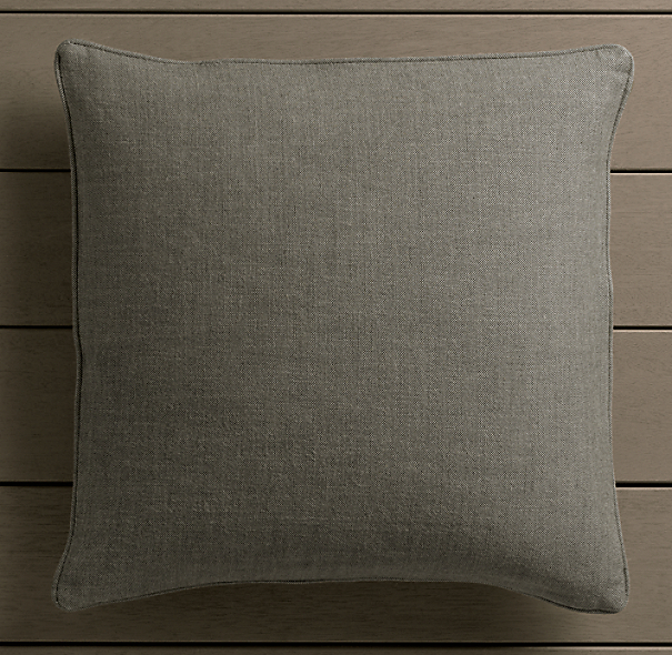 Perennials® Côte d&#39Azur Textured Linen Weave Pillow Cover Graphite