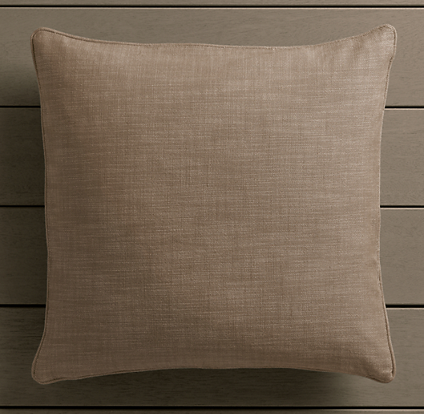 Perennials® Côte d&#39Azur Textured Linen Weave Pillow Cover Mocha