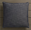 Perennials® Côte d&#39Azur Textured Linen Weave Pillow Cover Navy