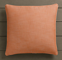 Perennials® Côte d&#39Azur Textured Linen Weave Pillow Cover Clementine