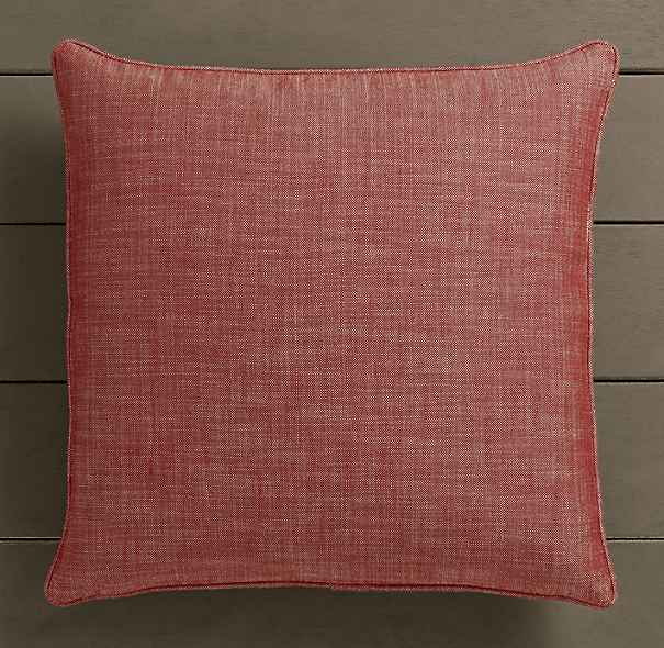 Perennials® Côte d&#39Azur Textured Linen Weave Pillow Cover Poppy