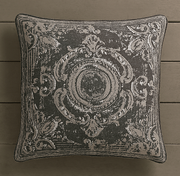Perennials® Côte d&#39Azur French Tile Pillow Cover Graphite
