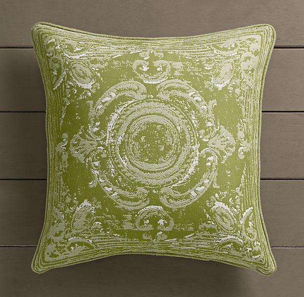 Perennials® Côte d&#39Azur French Tile Pillow Cover Vert