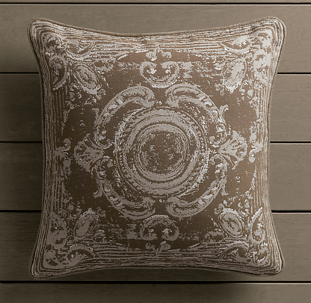Perennials® Côte d&#39Azur French Tile Pillow Cover Mocha