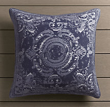 Perennials® Côte d&#39Azur French Tile Pillow Cover Navy