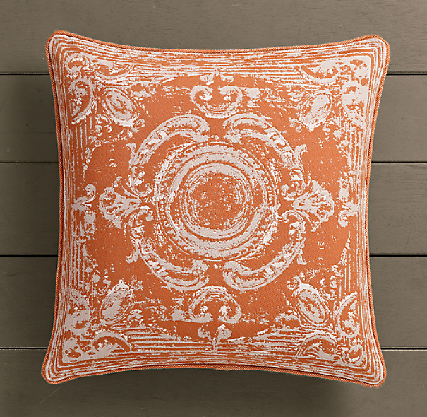 Perennials® Côte d&#39Azur French Tile Pillow Cover Clementine