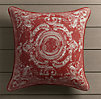 Perennials® Côte d&#39Azur French Tile Pillow Cover Poppy