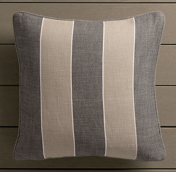 Perennials® Côte d&#39Azur Stripe Pillow Cover Graphite