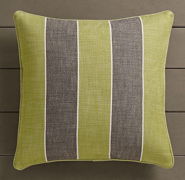 Perennials® Côte d&#39Azur Stripe Pillow Cover Vert