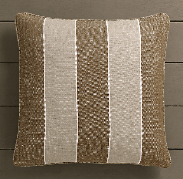 Perennials® Côte d&#39Azur Stripe Pillow Cover Mocha