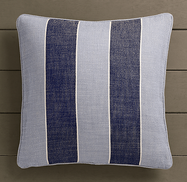 Perennials® Côte d&#39Azur Stripe Pillow Cover Navy
