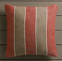 Perennials® Côte d&#39Azur Stripe Pillow Cover Poppy