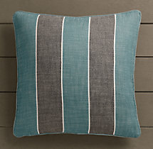Perennials® Côte d&#39Azur Stripe Pillow Cover Peacock
