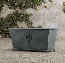 Estate Zinc Ring Square Trough Planter