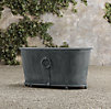 Estate Zinc Ring Round Trough Planter