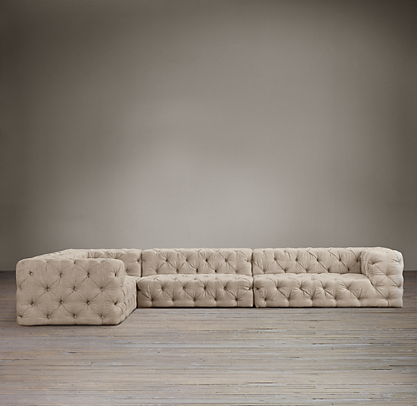 Soho Tufted Upholstered Left-Arm L-Sectional