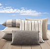Perennials® Côte d&#39Azur Stripe Pillow Cover Collection Graphite