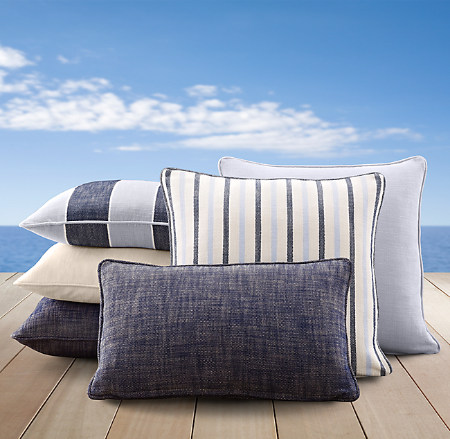 Perennials® Côte d'Azur Stripe Pillow Cover Collection Navy