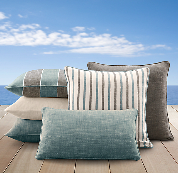 Perennials® Côte d&#39Azur Stripe Pillow Cover Collection Peacock