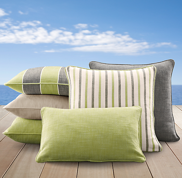 Perennials® Côte d&#39Azur Stripe Pillow Cover Collection Vert