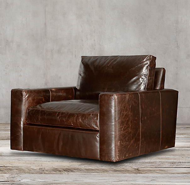 Maxwell Leather Swivel Chair